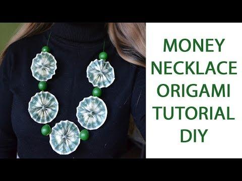 Money Necklace Graduation Origami Dollar Jewelry Lei Tutorial DIY