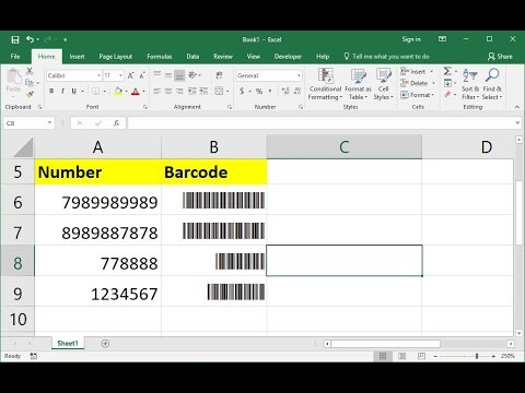 How to Create Barcode in MS Excel (Very Easy)