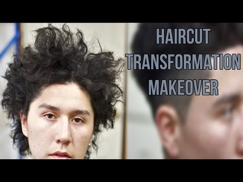 AMAZING HAIRCUT TRANSFORMATION! Curly Drop Fade Haircut By 16 Year Old Barber