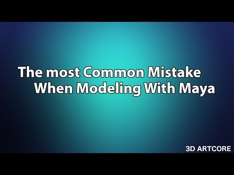 Maya Tutorial- The most common mistake in maya Modeling |Solved!|