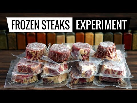 Frozen Steaks Experiment - What's Best for Sous Vide?