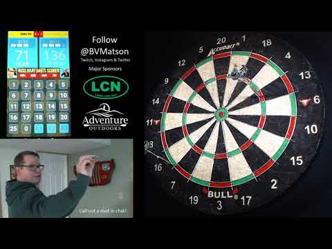 Playing Steel Tip Darts-71 Checkout! T13, D16. Best close yet!