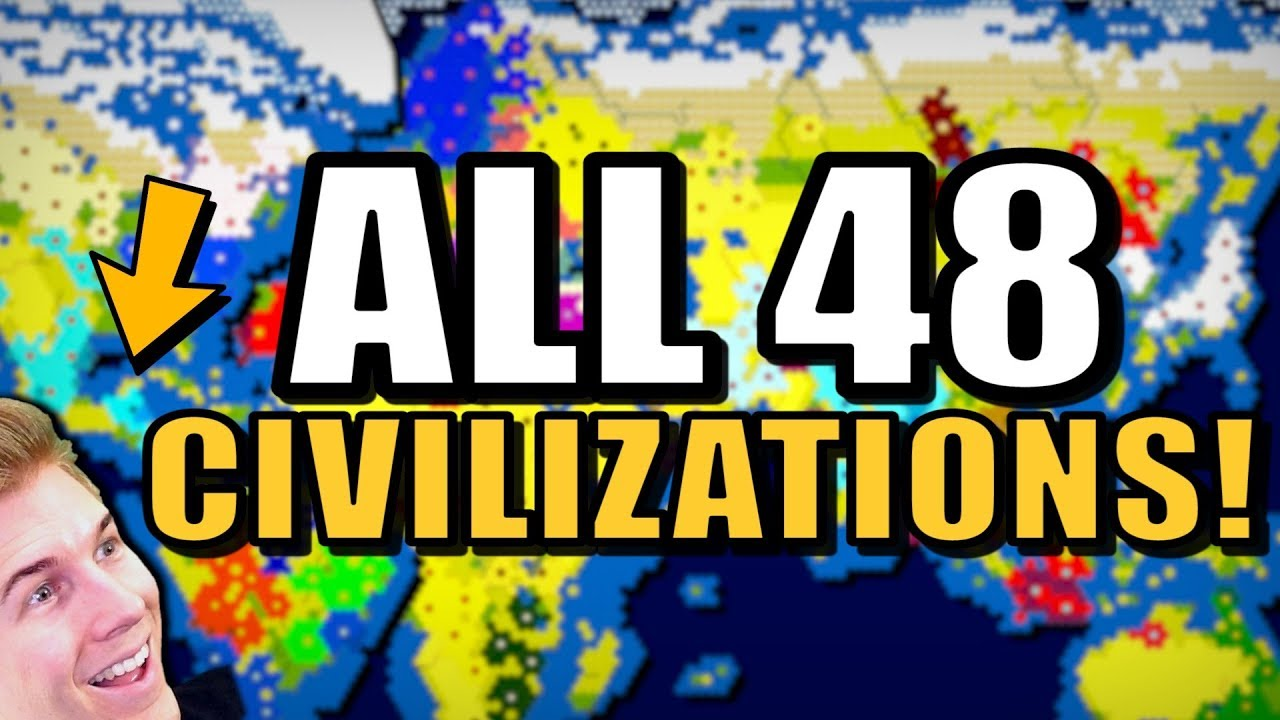All 48 Nations Battle on a MASSIVE WORLD MAP! | Civilization 6 (All CIVS)