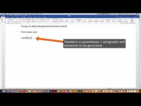 #418 Auto generated text in Word