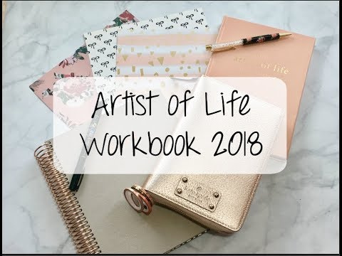 Lavendaire's Artist of Life Workbook 2018 Overview | Planner & Stationery Talk