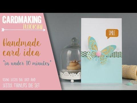 Handmade card idea in under 10 minutes - Sizzix Challenge