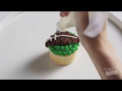 Cake Boss Cupcake Calendar: September | Football Cupcake Tutorial