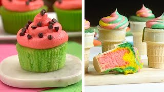Download 8 Hacks to Create Sweet Treats!   Colorful Ice Cream Cupcakes and Chocolate Desserts by So Yummy Video