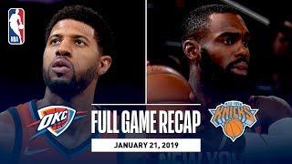 Full Game Recap Thunder Vs Knicks  Paul George Drops 31 In The Garden