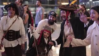 Projeção Mapeada de Piratas do Caribe: A Vingança de Salazar