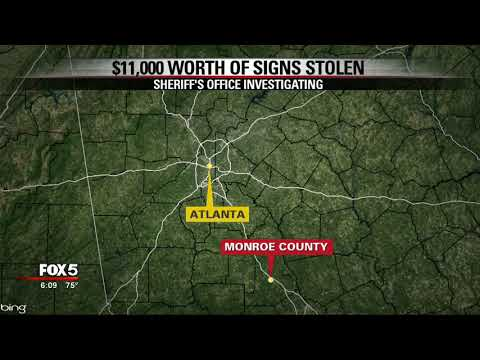Monroe County missing road signs