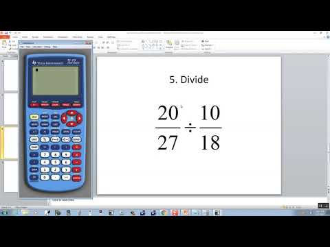 Technology in College Algebra - Fractions - TI-73