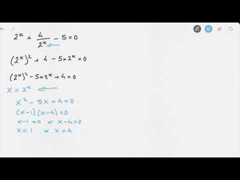 Solving Exponential Equations with Hidden Quadratics