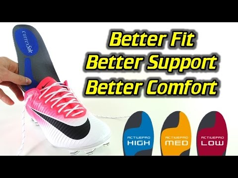 The Best Football Boot/Soccer Cleat Insoles - currexSole ACTIVEPRO Replacement Insoles