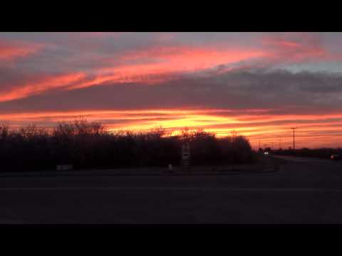 Glorious colorful sky after sunset , near Madera on Rte 152,