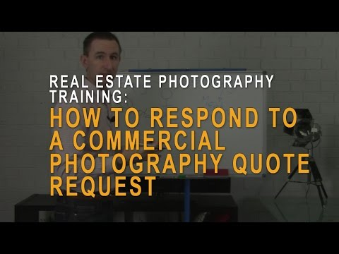 Commercial photography quote request: how to respond