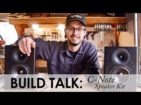 Build Talk! || C-Note Bookshelf Speaker Kit