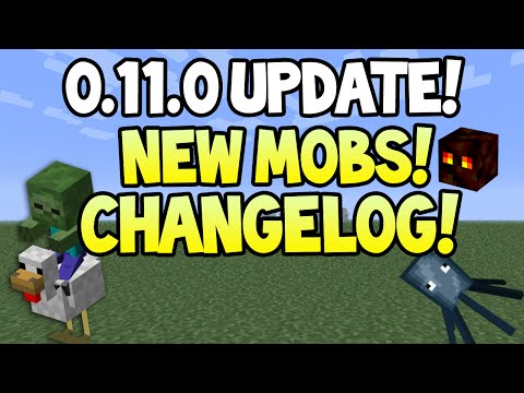 Minecraft Pocket Edition - 0.11.0 Update! - NEW MOBS, FEATURES+ Changelog + More Info!