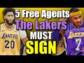 Download  5 Free Agents The Lakers MUST Sign After The Anthony Davis Trade MP3,3GP,MP4