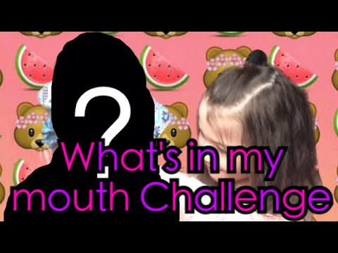 What's In My Mouth Challenge!| With...?