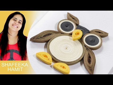 Paper quilling how to make Owl