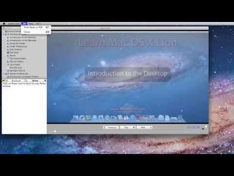 Learn Mac OS X Lion Training App Intro