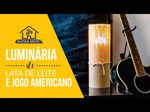 ⭐LUMINÁRIA COM JOGO AMERICANO E LATA DE LEITE | DIY