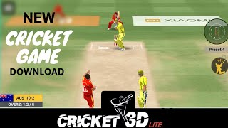 🔥 New Cricket game | Cricket 3D lite | superb graphic | Download game | Android