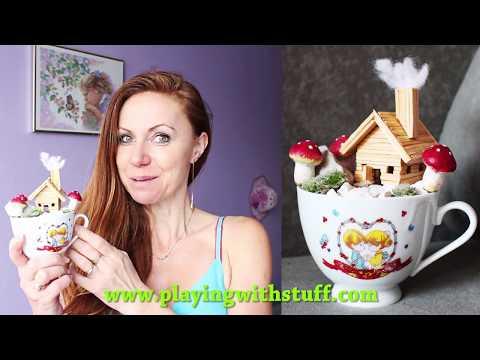 DIY - Miniature Fairy Garden in Tea Cup