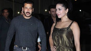 Salman Khan And Sunny Leone Snapped At Arbaaz Khan