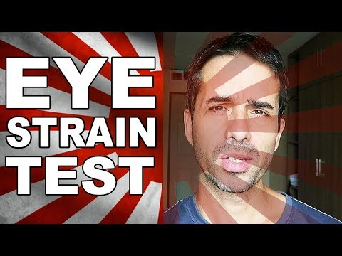 At Home EYE STRAIN TEST (Pro Topic)