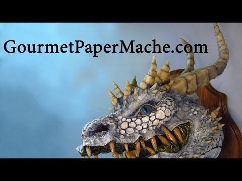 Three More Paper Mache Dragons