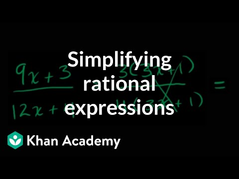 Simplifying rational expressions introduction | Algebra II | Khan Academy