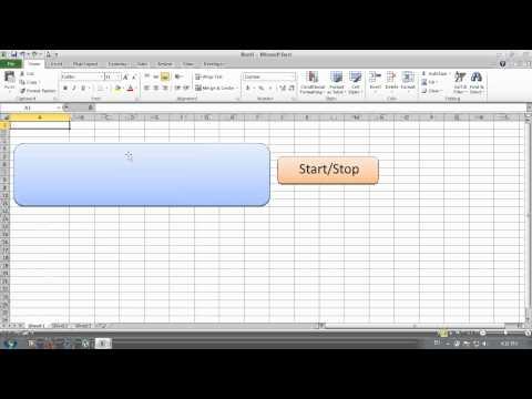 Digital Clock in Excel 2010