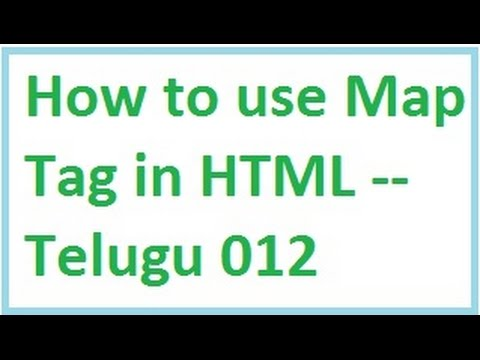 How to use Map Tag in HTML -- Telugu 12-vlr training
