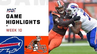 Bills vs. Browns Week 10 Highlights   NFL 2019