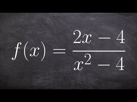How to identify vertical and horizontal asymptotes with holes