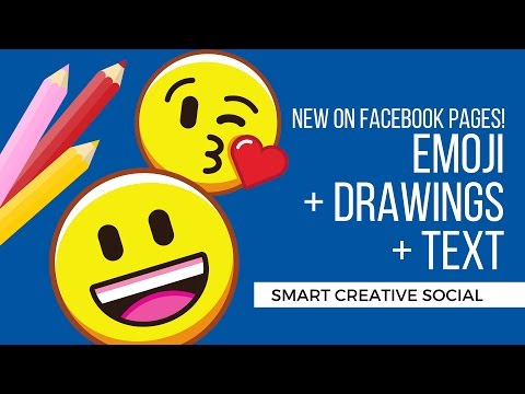 Adding Emojis and Stickers to FACEBOOK PAGE posts - Jennifer Priest