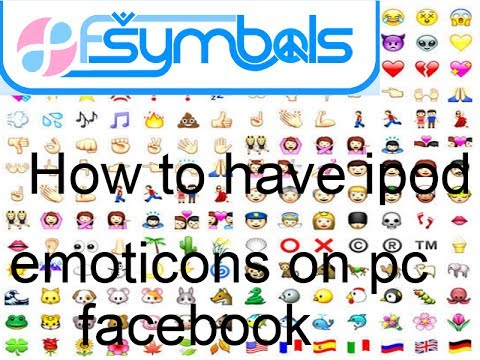 How to get Iphone/Ipod facebook emoticons on Pc Facebook