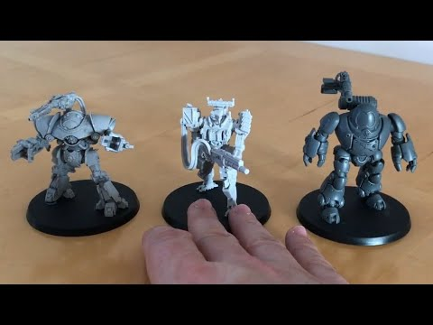 Proteus Battle Mech with Chaingun by White Dragon Miniatures - An Alternative to Castellax?