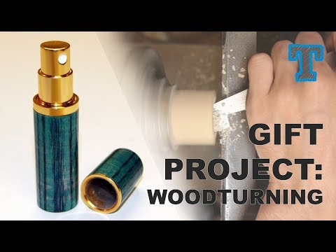 Woodturning Gift Project | Travel Size Perfume Spray