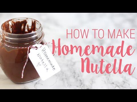 How to Make Homemade Nutella | DIY Recipe