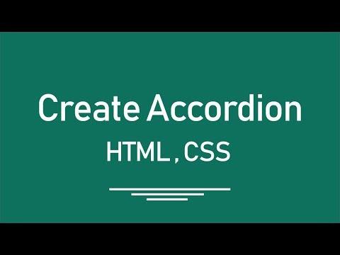 ( HTML || CSS ) Create Accordion --- عمل اكورديون بطريقه جميله