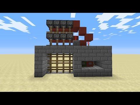 How to make a Portcullis Gate (castle gate) in Minecraft!