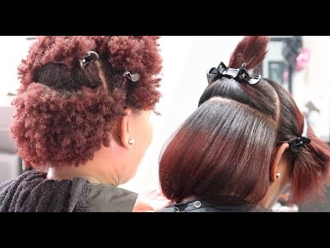 Silk Press on 4Z Natural Hair LOL #SalonWork