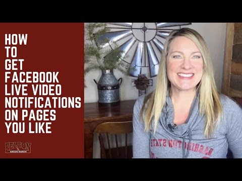How to Get Facebook Live Video Notifications on Pages You Like