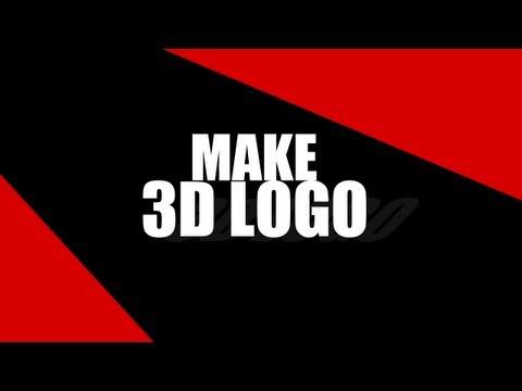 How to make 3D logo photoshop / cinema4D
