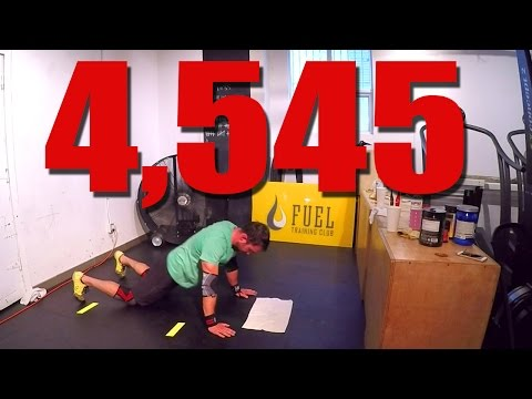 4,545 Chest to Floor Burpees in 12hr (Guinness World Record)