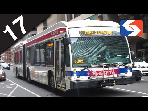 SEPTA Ride: 2016 NovaBus LFS Articulated #7470 on route 17 to 20th-Johnston