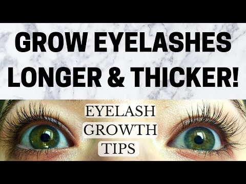 EYELASH GROWTH TIPS | HOW TO GROW EYELASHES LONGER AND THICKER NATURALLY! (Guaranteed Longer Lashes)
